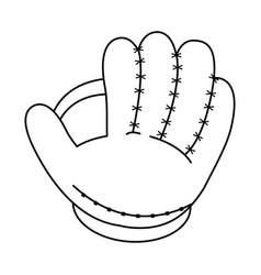 Glove baseball related icon image vector