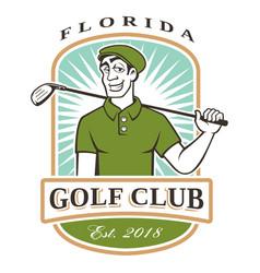 golfer logo vector image