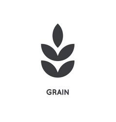 grain icon grain glyph design concept agriculture vector image