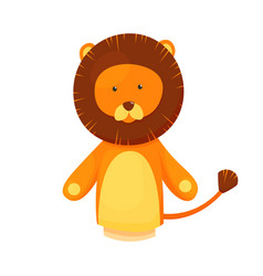 Hand or finger puppets play doll lion cartoon vector