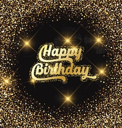 happy birthday glitter background 2907 vector image