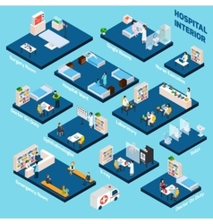 Isometric Hospital Interior vector
