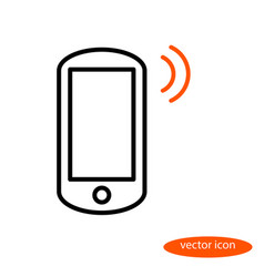 Linear image of smartphone and orange sound vector