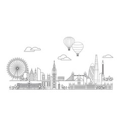 London skyline line art 6 vector