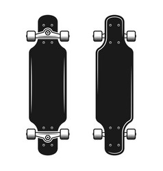 Longboards set of two styles top and bottom view vector