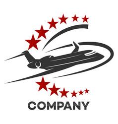 Modern airplane logo vector