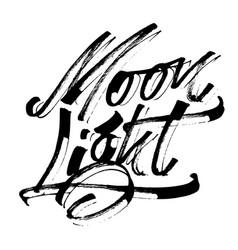 moon light modern calligraphy hand lettering vector image