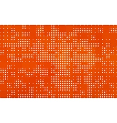 orange background made with circles and squares vector image
