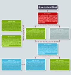 Organization chart template vector