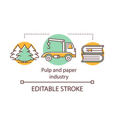 Pulp and paper industry concept icon wood vector