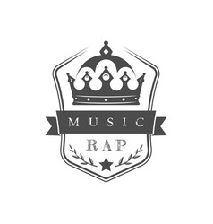 Rap music logo vector