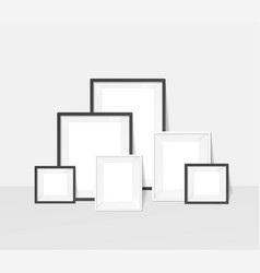 realistic detailed 3d interior frame composition vector image
