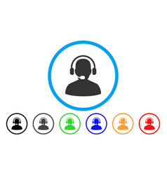 Receptionist rounded icon vector