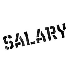 salary rubber stamp vector image vector image