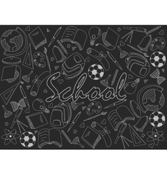 School chalk vector image