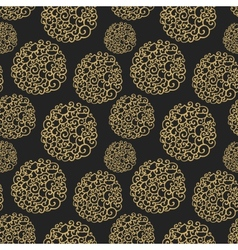 Seamless pattern with decorative curls Doodle vector image