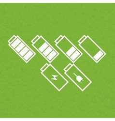 Set of battery icons vector