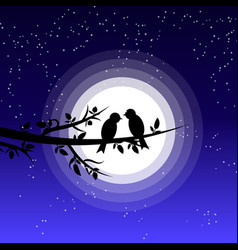 silhouette a couple bird vector image