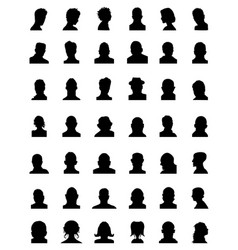silhouettes of avatars vector image