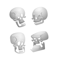 Skull face isolated on white vector
