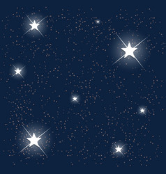 Space Blue Starry Sky vector image