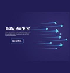 speed movement concept comet flies blue color vector image