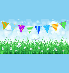 spring background with festoon vector image