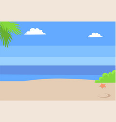 summer beach landscape with blue sea hot sand sky vector image