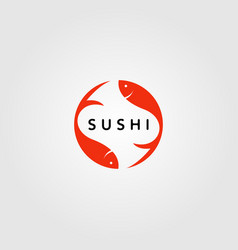 sushi japan fish food logo design design vector image