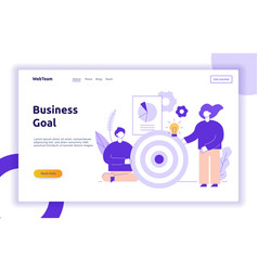 Teamwork and business web page banner vector
