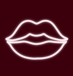 the image of the lips a kiss vector image