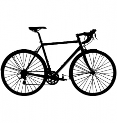 touring bicycle vector image