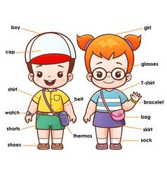 vocabulary clothing vector image