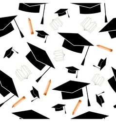 with education elements background vector image