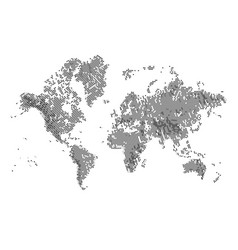 world map with circular halftone effect vector image