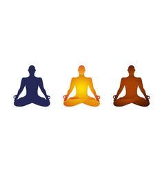 yoga lotus pose basic clipart character cutout vector image