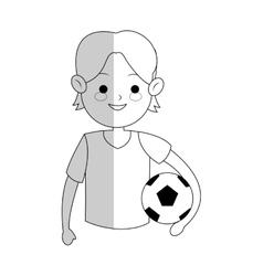 boy cartoon icon vector image vector image