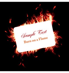 fire frame vector image vector image