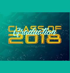 graduation label text for graduation design vector image vector image