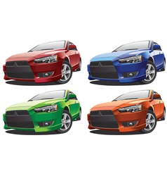 modern racing car No1 vector image vector image