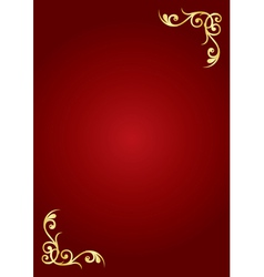 Red and gold background vector image vector image