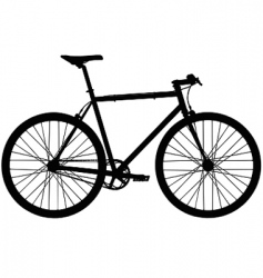 single speed bicycle vector image vector image
