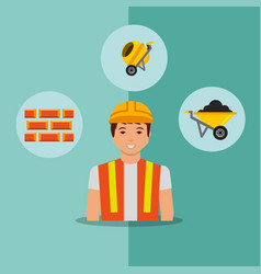 construction people tools vector image