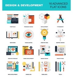 Design and Development vector image vector image