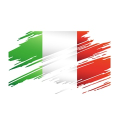 Flag Italy in the form traces brush vector image vector image