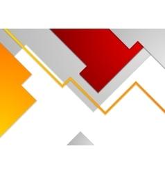 Tech minimal corporate brochure template vector image