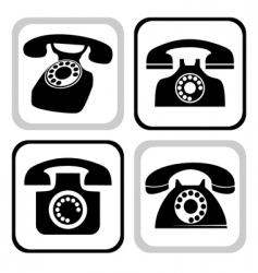 telephone collection vector image