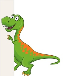 tyranosaurus cartoon vector image