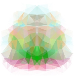 Abstract background of color triangles vector image