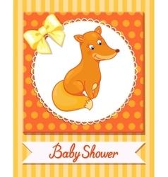 cute fox baby isolated caracter animal vector image vector image